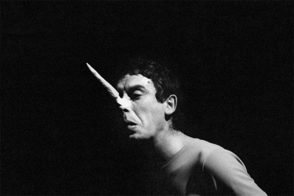 Carmelo Bene in Pinocchio (1966), Teatro Centrale, Rome. © Claudio Abate.