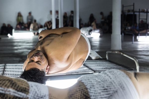 Naufus Ramírez-Figueroa, 'The Print of Sleep' (2016), performance. Photo: Frank Sperling.
