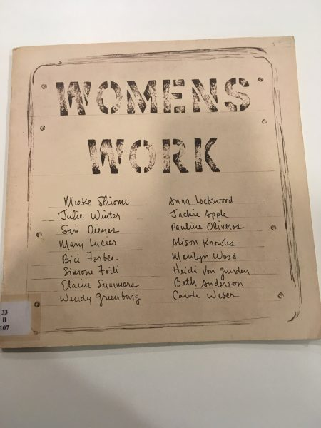 Annea Lockwood and Alison Knowles, 'Womens Work' (2019), magazine. Photo: Giulia Damiani.