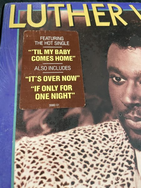 "Detail of record cover for The Night I Fell in Love (1985) by Luther Vandross including the track ""If Only For One Night"""