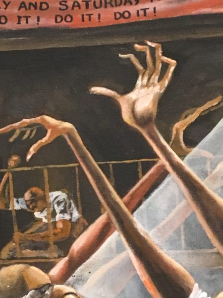 Detail from Ernie Barnes, Sugar Shack, 1976.